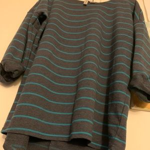 Divided by H&M Blue 3/4 sleeve Long Sleeve Sweater